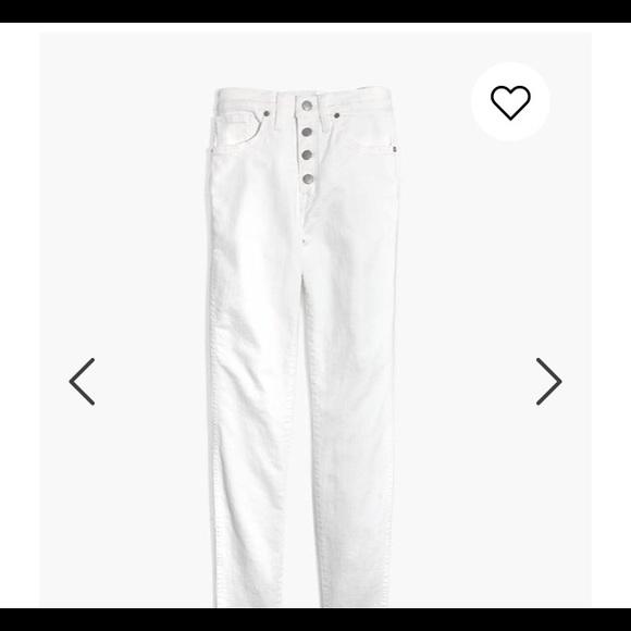 "Madewell Denim - Madewell 10"" High Rise Skinny Jeans Raw Hem"